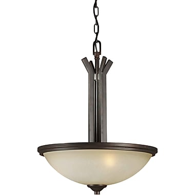 Forte Lighting 3-Light Bowl Inverted Pendant