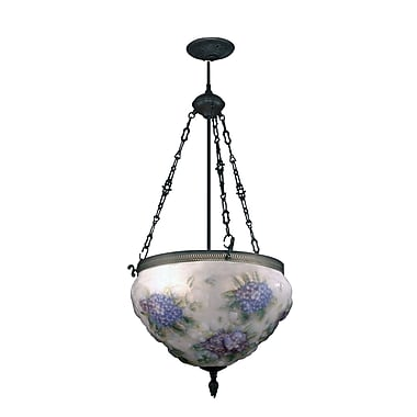 Dale Tiffany Hydrangea Pairpoint 3-Light Foyer Inverted Pendant
