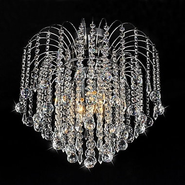 Warehouse of Tiffany Candace 3-Light Crystal Flush Mount