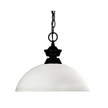 Z-Lite Windsor 1-Light Billiard Pendant; Matte Opal