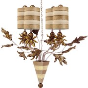 Flambeau Lighting Audubon 4-Light Shaded Chandelier; Putty/Cream