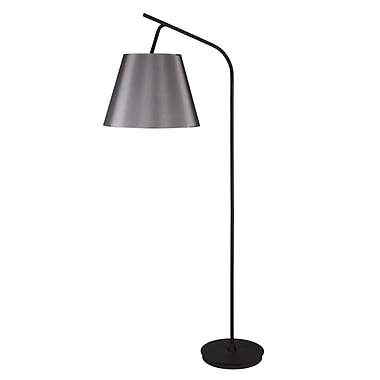 Lights Up! Walker 75'' Task Floor Lamp; Latte Chintz