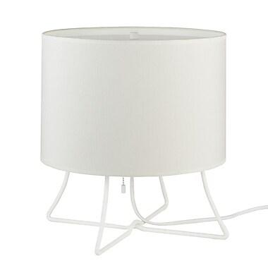 Lights Up! Virgil Low 13'' Table Lamp; Nutmet Parchment
