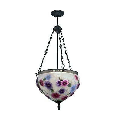 Dale Tiffany Cosmos Pairpoint 3-Light Foyer Inverted Pendant