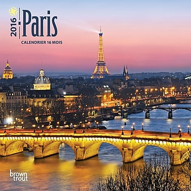 2016 BrownTrout Publishers 12-Month Wall Calendar, Paris, 7
