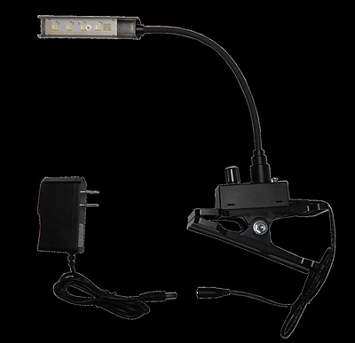 Clear Sound Corp LED Gooseneck Music Stand Inspection Reading Clip-on Light 2.5'' Table Lamp