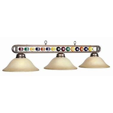 RAM Game Room 3-Light Billiard Ball Light; Bronze/Amber