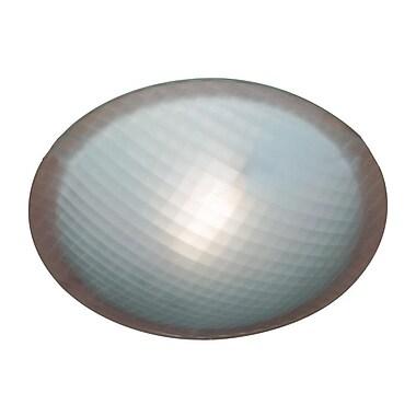PLC Lighting Nuova 1-Light Flush Mount; White / 3'' H x 8'' W / G9