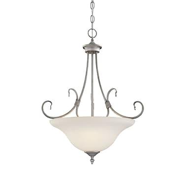 Millennium Lighting Fulton 3-Light Bowl Pendant; Rubbed Silver
