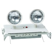 Morris Products Recessed Twin Head Emergency Lighting Unit in White