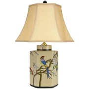 Oriental Furniture Birds and Flowers 21.75'' Table Lamp