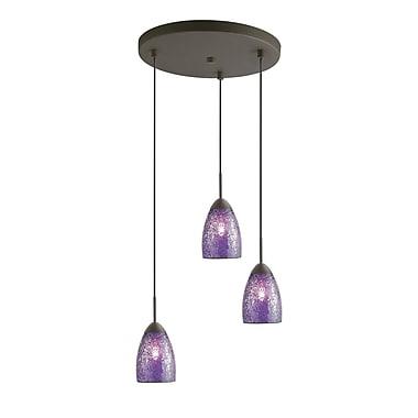 Woodbridge Venezia 3-Light Cascade Pendant; Purple
