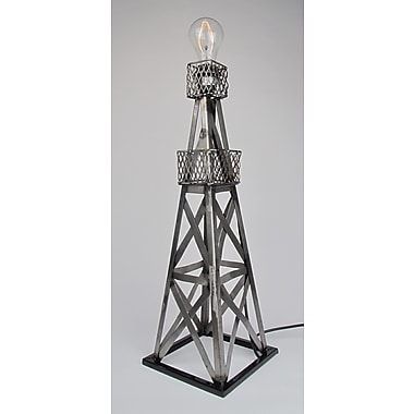 Metrotex Designs Oil Derrick 24'' Table Lamp; Natural Steel Lacquered