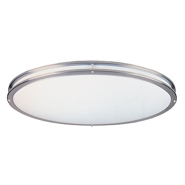 Designers Fountain Oval Flush Mount; 4.75'' H x 32.5'' W x 18'' D