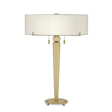 Remington Lamp 23.5'' Table Lamp; Polished Brass Base with Cream Shade