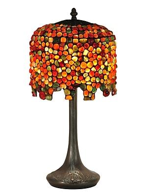 Dale Tiffany Pebblestone Wisteria 22.5'' Table Lamp