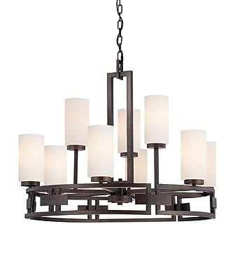Designers Fountain Del Ray 9-Light Shaded Chandelier