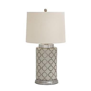 Woodland Imports Fancy Styled Ceramic Metal 29'' H Table Lamp with Empire Shade