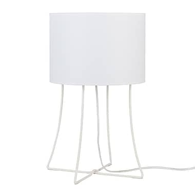 Lights Up! Virgil 21'' Table Lamp; Nutmet Parchment