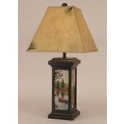 Coast Lamp Mfg. Rustic Living Small Square Pot 28.5'' Table Lamp