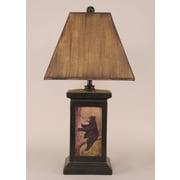 Coast Lamp Mfg. Rustic Living Square Pot 30'' Table Lamp