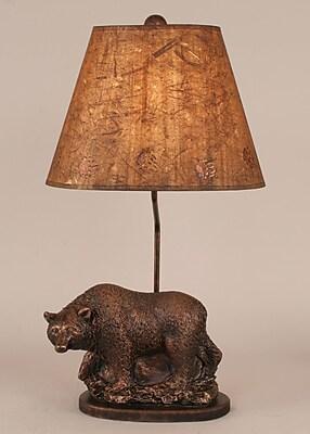 Coast Lamp Mfg. Rustic Living Walking Bear Pot on Wooden Base 26'' Table Lamp