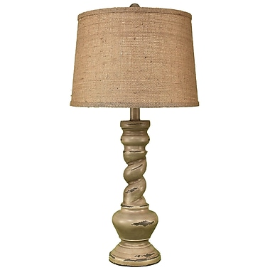 Coast Lamp Mfg. Casual Living 31'' Table Lamp; Heavy Distressed Gray