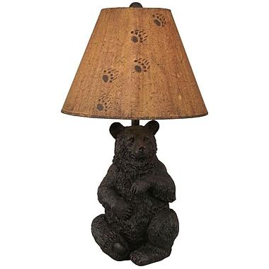 Coast Lamp Mfg. Rustic Living Sitting Bear Pot 28'' Table Lamp