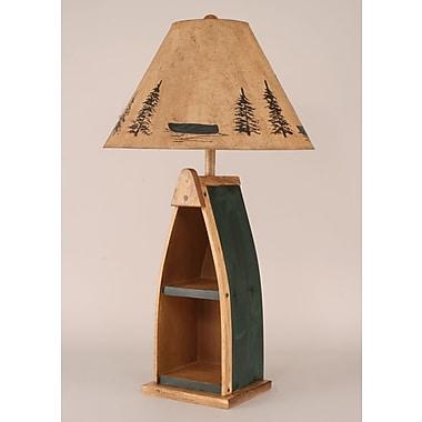Coast Lamp Mfg. Rustic Living Wooden Boat 33'' Table Lamp