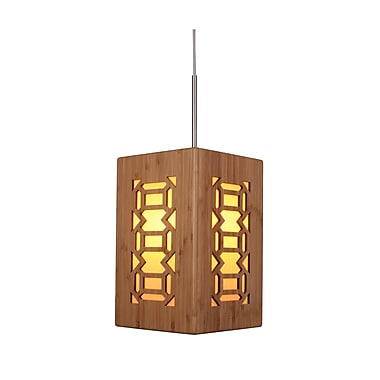 Woodbridge Light House Triune 1-Light Mini Pendant; Satin nickel