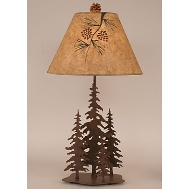 Coast Lamp Mfg. Rustic Living Iron Pine Trees 33'' Table Lamp