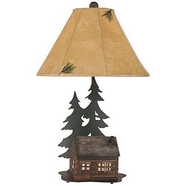Coast Lamp Mfg. Rustic Living Iron Cabin 28.5'' Table Lamp