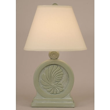 Coast Lamp Mfg. Coastal Living Framed Nautilus Shell 25'' Table Lamp; Sage Wash