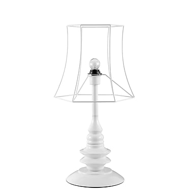 Pangea Home Helenah 25'' Table Lamp; White