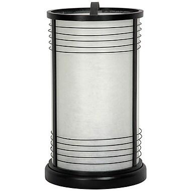 Oriental Furniture Japanese 13.5'' Torchiere Lamp; Black