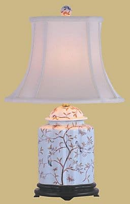 Oriental Furniture Porcelain Scallops 22'' Table Lamp