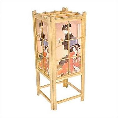 Oriental Furniture Geisha Shoji 18'' Table Lamp; Natural