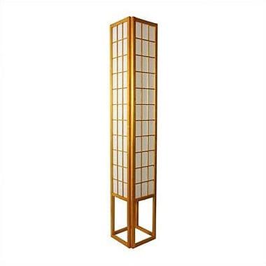 Oriental Furniture Window 72'' Floor Lamp; Honey