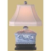 Oriental Furniture Canton Tea Candy Box 15'' Table Lamp