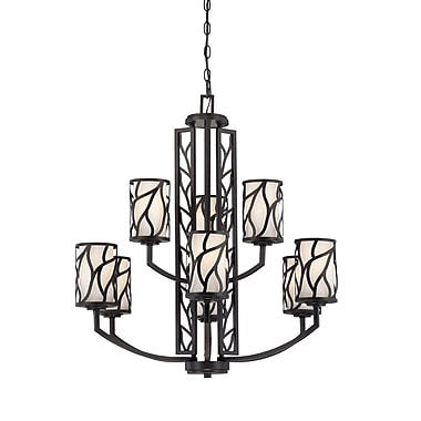 Designers Fountain Modesto 9-Light Shaded Chandelier