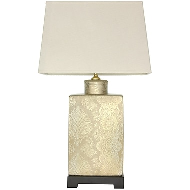 Oriental Furniture Finch in the Blossoms 24'' Table Lamp
