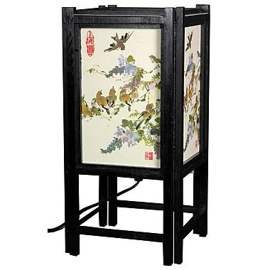 Oriental Furniture Art Shoji Bird 14'' Table Lamp