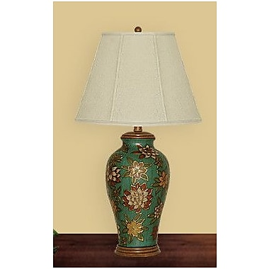 JB Hirsch Floral 29'' H Table Lamp w/ Empire Shade