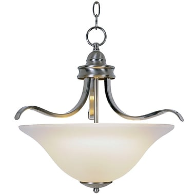 Monument Sanibel 3-Light Inverted Pendant; Brushed Nickel