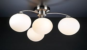 PLC Lighting Aosta 4-Light Semi Flush Mount
