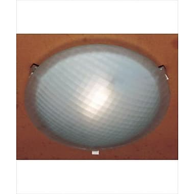 PLC Lighting Nuova 1-Light Flush Mount; Rust / 4.5'' H x 20'' W / J118mm