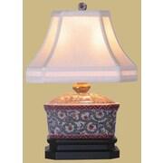 Oriental Furniture Porcelain Tea Candy Box 15'' Table Lamp