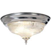 Monument Halophane 1-Light Flush Mount; 12.75''