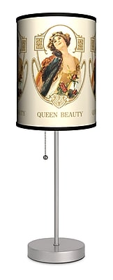Lamp-In-A-Box Vintage Labels Queen Beauty 20'' Table Lamp