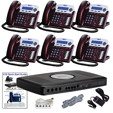 XBLUE X16 Office Telephone System, Red Mahogany, 6/Pack (XB1606RM)